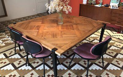 Fabrication artisanale tables sur mesure