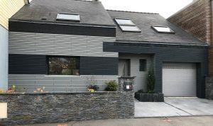 Bardage sur façade de maison
