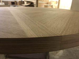 plateau de table ronde fabriquée à l'unité
