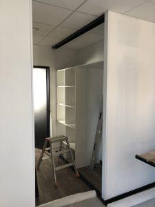 aménagement d'un magasin : laboratoire salon de coiffure