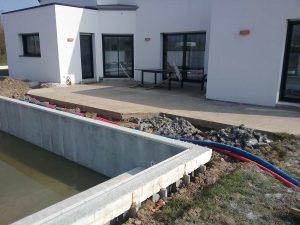 construction d'une piscine béton