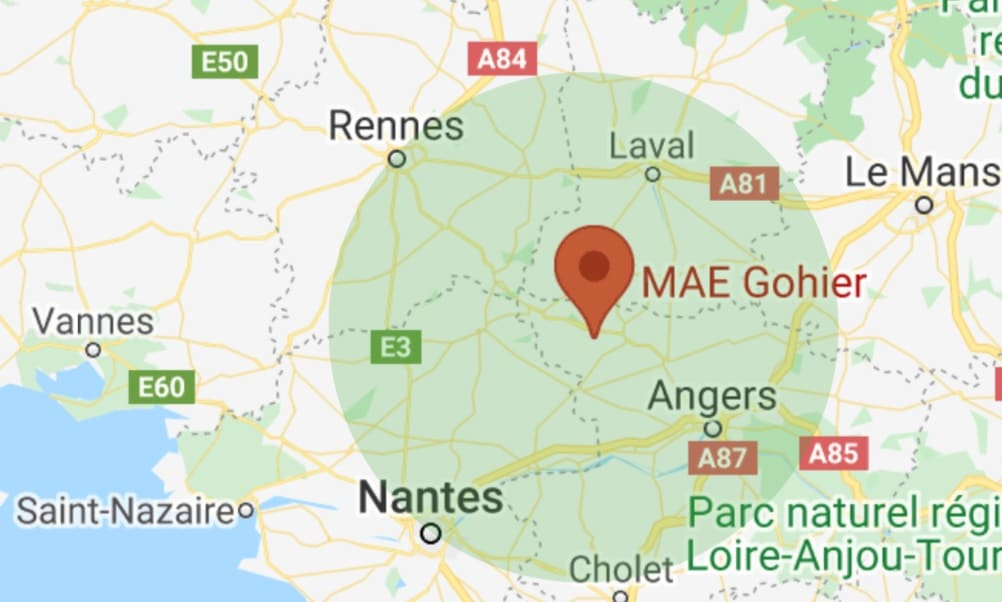 localisation entreprise MAE Gohier