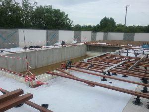préparation lambourdes pour pose terrasse composite