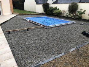 préparation piscine avant pose terrasse bois
