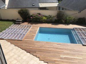 tour de piscine en ipé et préparation pose couverture