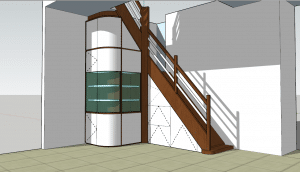 Plan 3D Projet de sous escalier